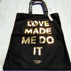 "Victoria's Secret ""Love Made Me Do It"" tote bag"